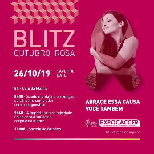 Expocaccer promove momentos especiais para as campanhas Outubro Rosa e Novembro Azul
