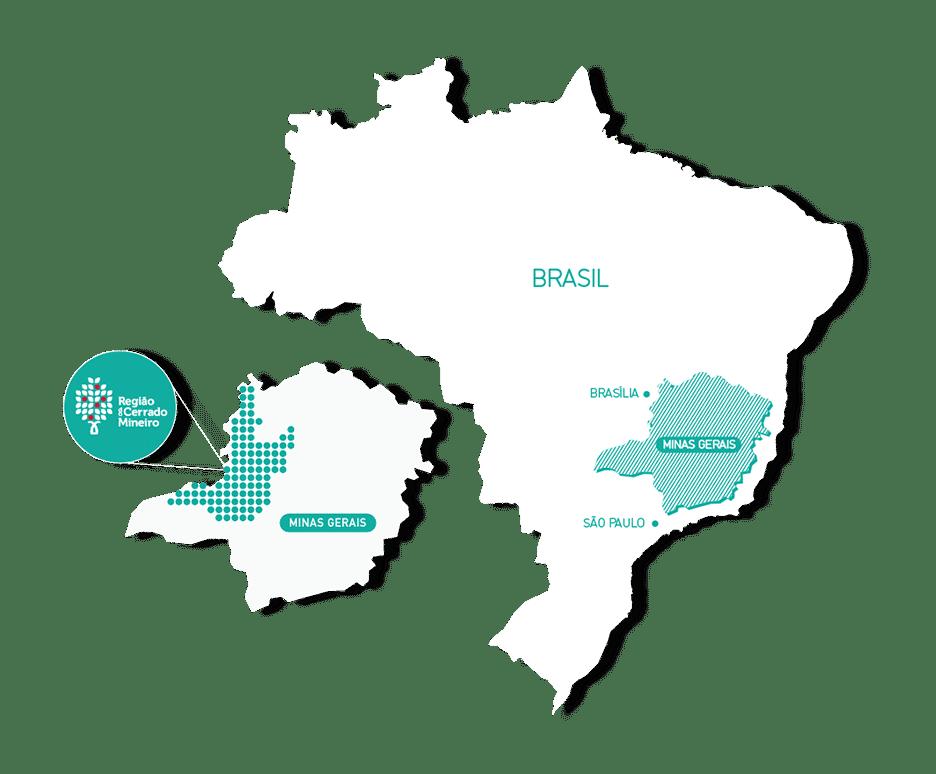 Mapa de la Región Cerrado Mineiro