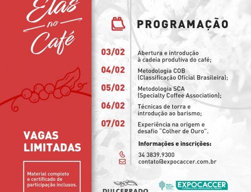 """Expocaccer lança mais uma edição do Workshop """"Elas no Café"""""""