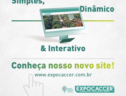 Expocaccer reformula site para oferecer uma opção a mais de informações e serviços