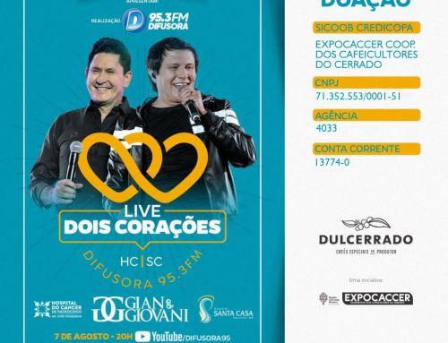 EXPOCACCER E DULCERRADO PARTICIPARÃO DE LIVE EM PROL DA SANTA CASA DE PATROCÍNIO E DO HOSPITAL DO CÂNCER