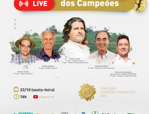 VEM AÍ A TÃO ESPERADA LIVE DOS CAMPEÕES EXPOCACCER 2020!