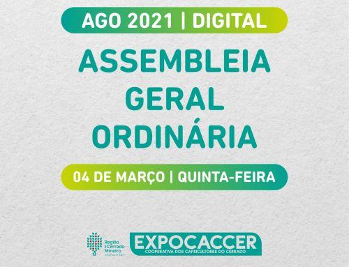 EXPOCACCER REALIZARÁ ASSEMBLEIA GERAL ORDINÁRIA DIGITAL